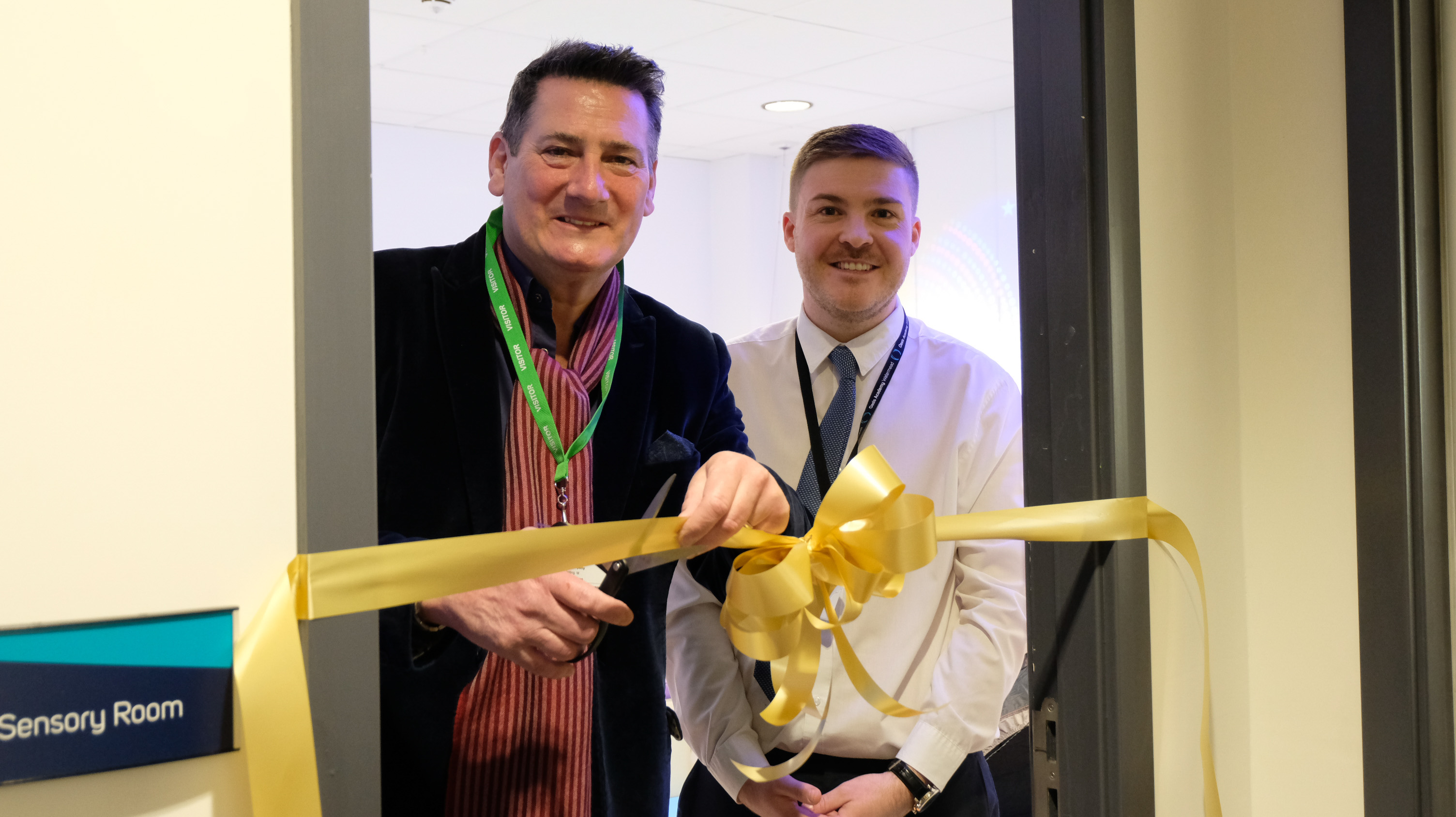 Former Spandau Ballet singer opens new learning space at Oasis Academy Watermead